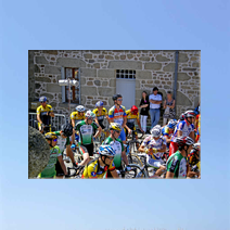 Cyclists at  Franseche Limousin